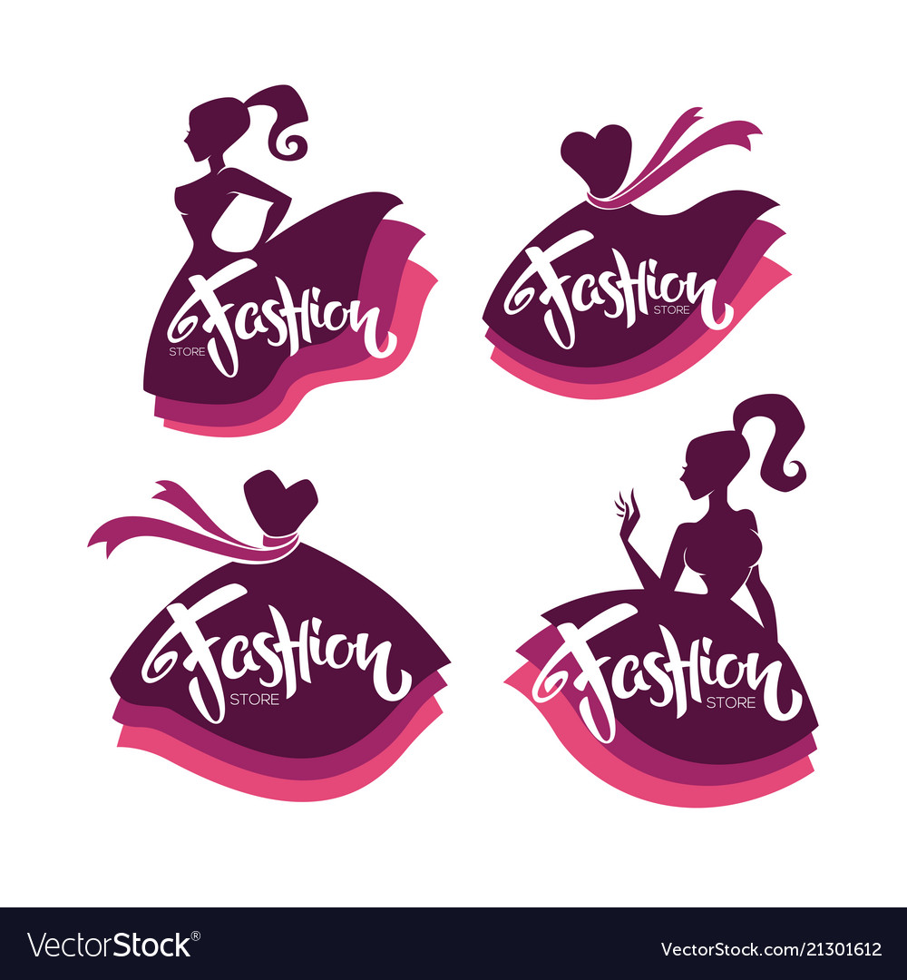 Collection of fashion boutique and store logo