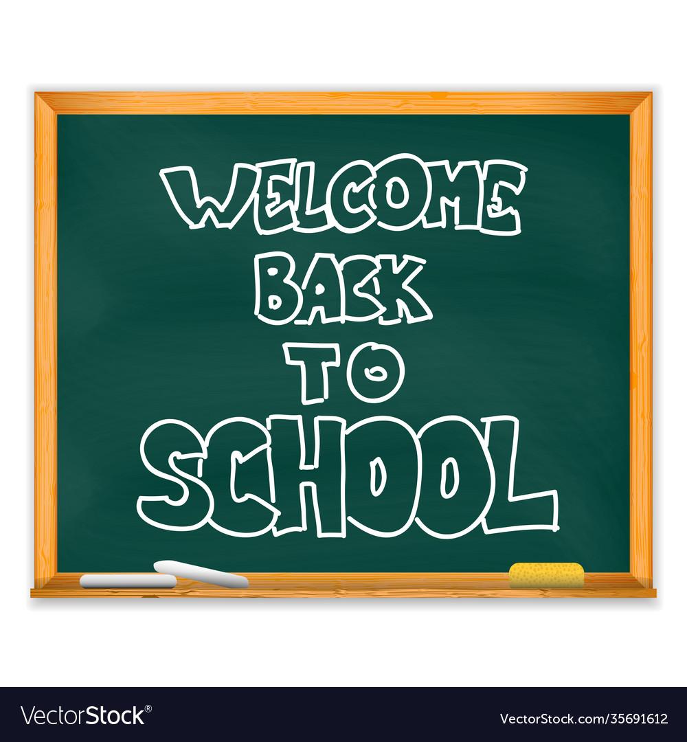 Isolated school chalckboard