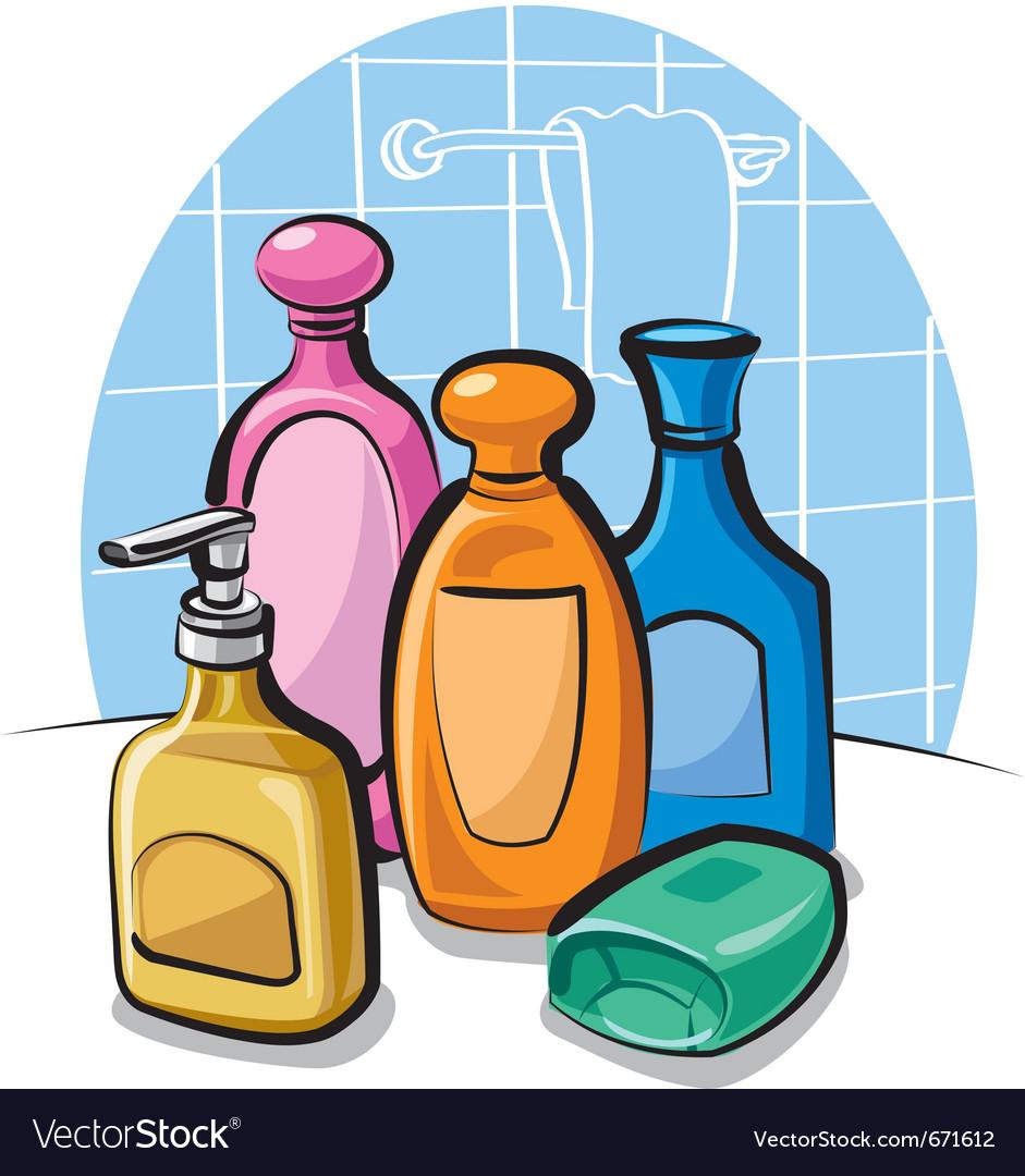 Shampoo and soap vector image