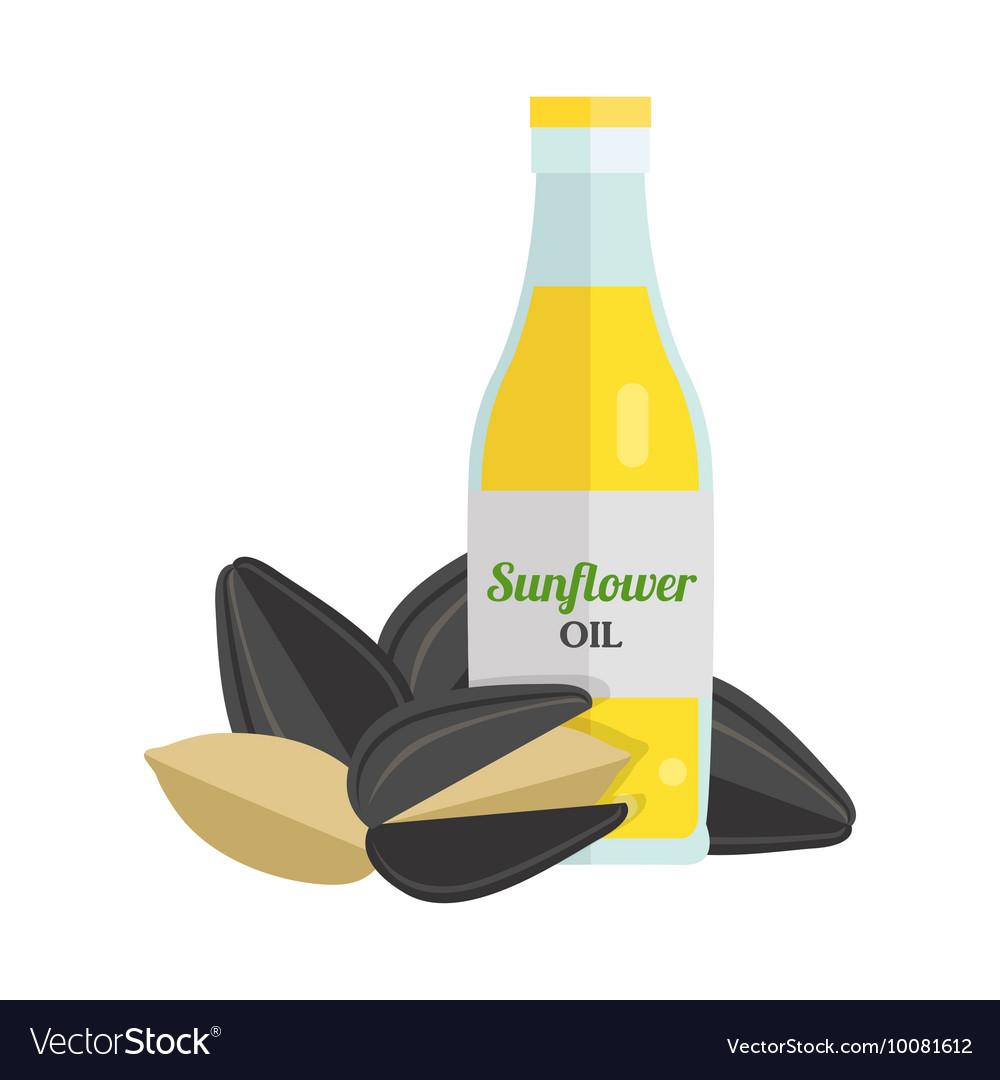 Sunflower Oil in Flat Design