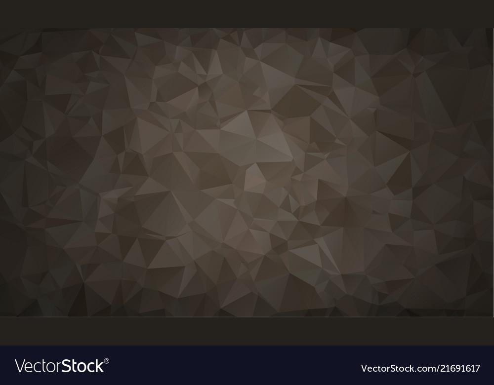 Abstract polygon background dark black polygonal