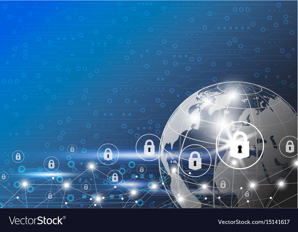 Business concept of global network security