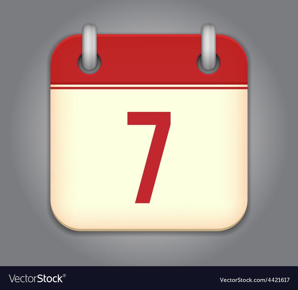 Calendar App Icon Royalty Free Vector Image Vectorstock