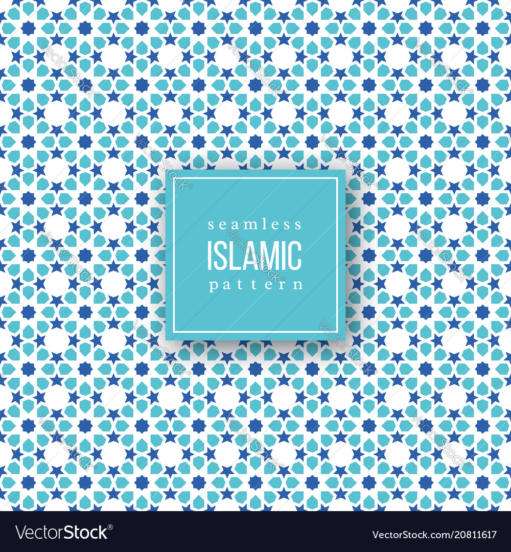 Seamless pattern in islamic traditional style
