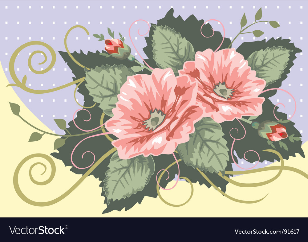 Victorian rose bouquet Royalty Free Vector Image