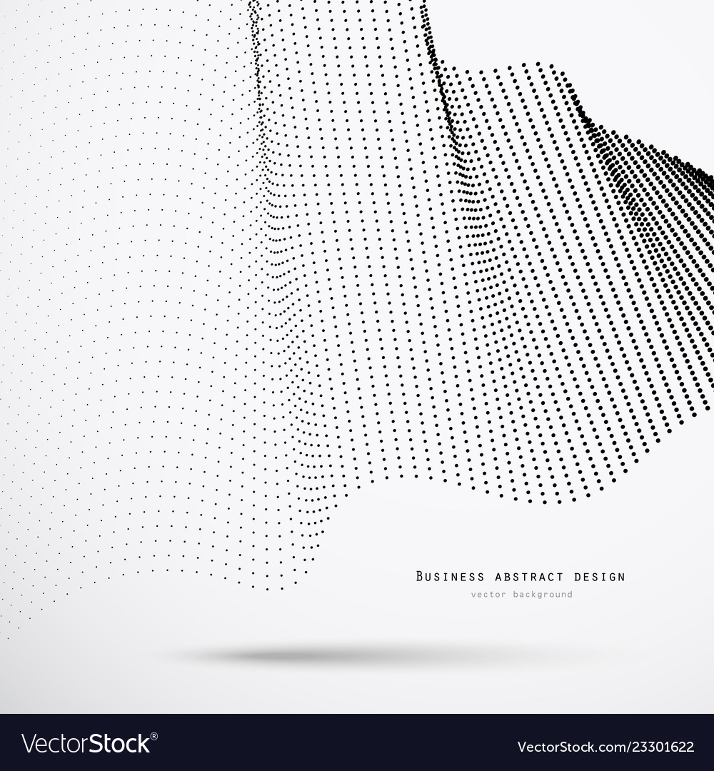 Abstract 3d business background of black halftone