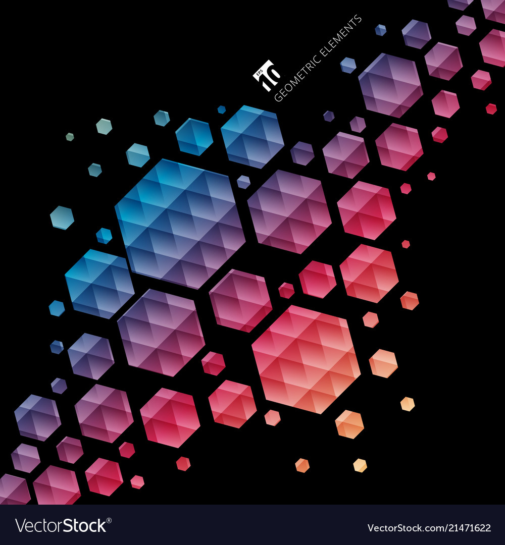 Abstract geometric hexagon pattern colorful
