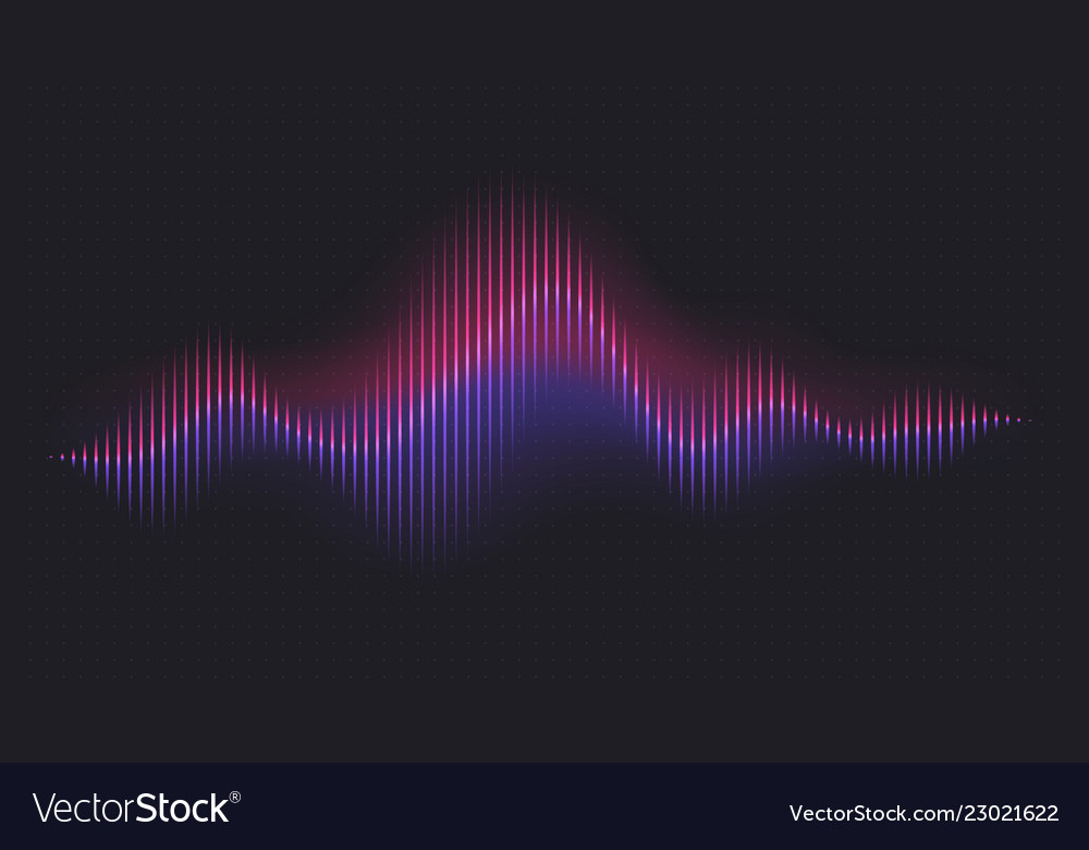 Abstract sound wave voice digital waveform