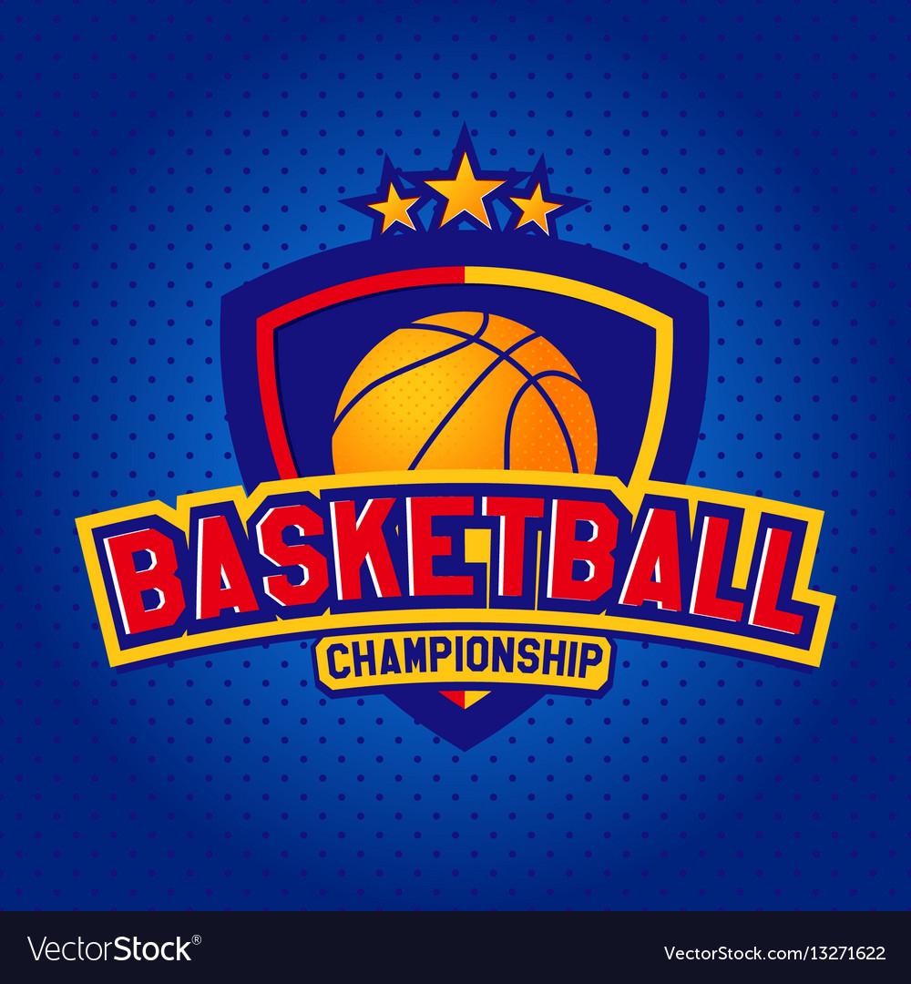 Basketball logotemplates of sport t-shirt vector image