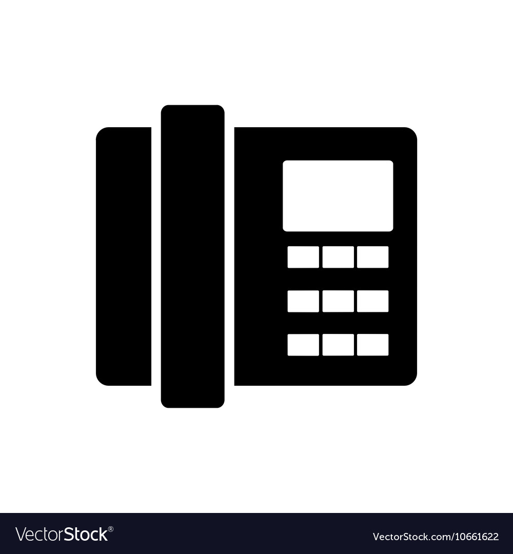 Home phone icon Flat design