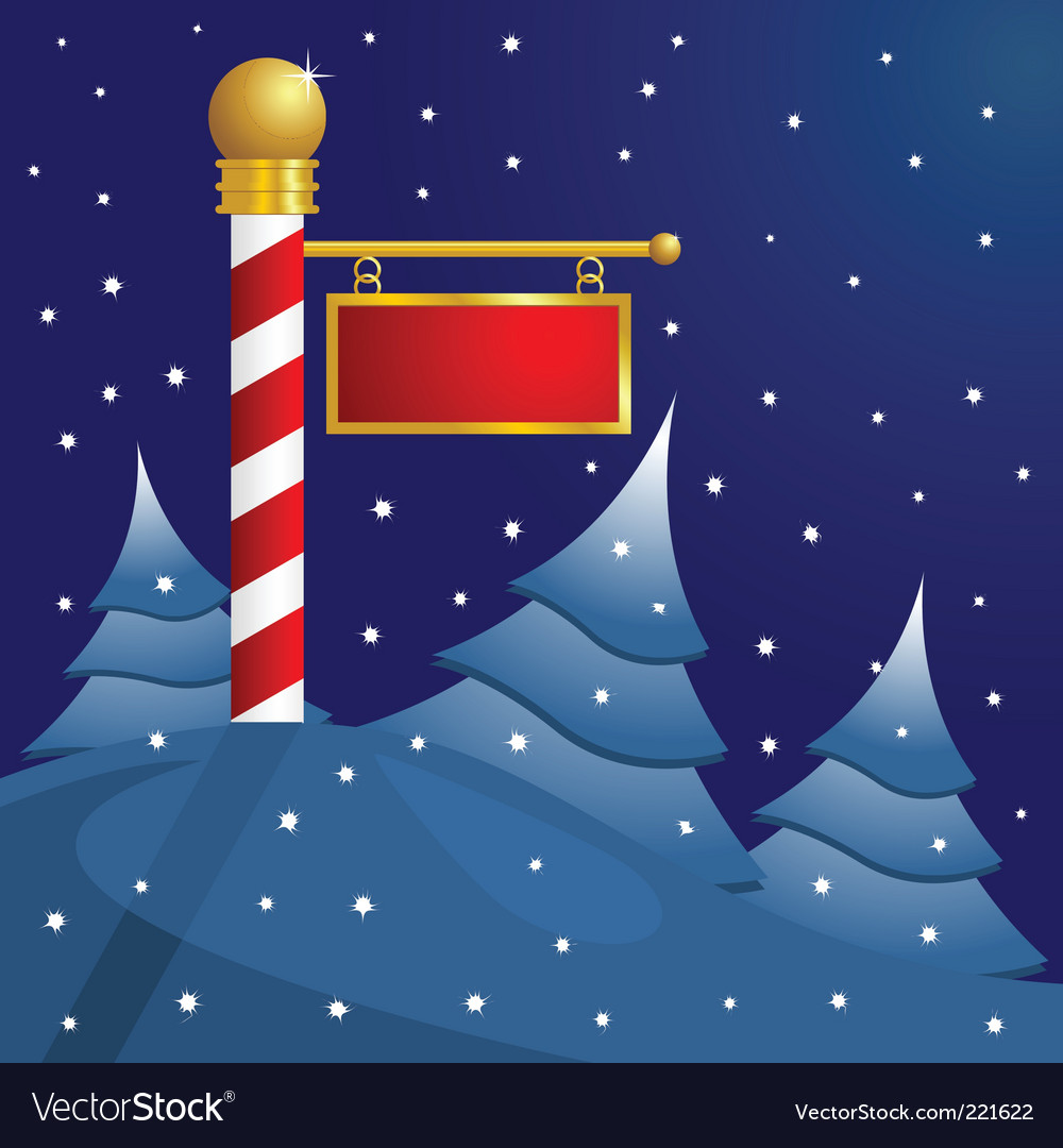 North Pole Christmas Royalty Free Vector Image