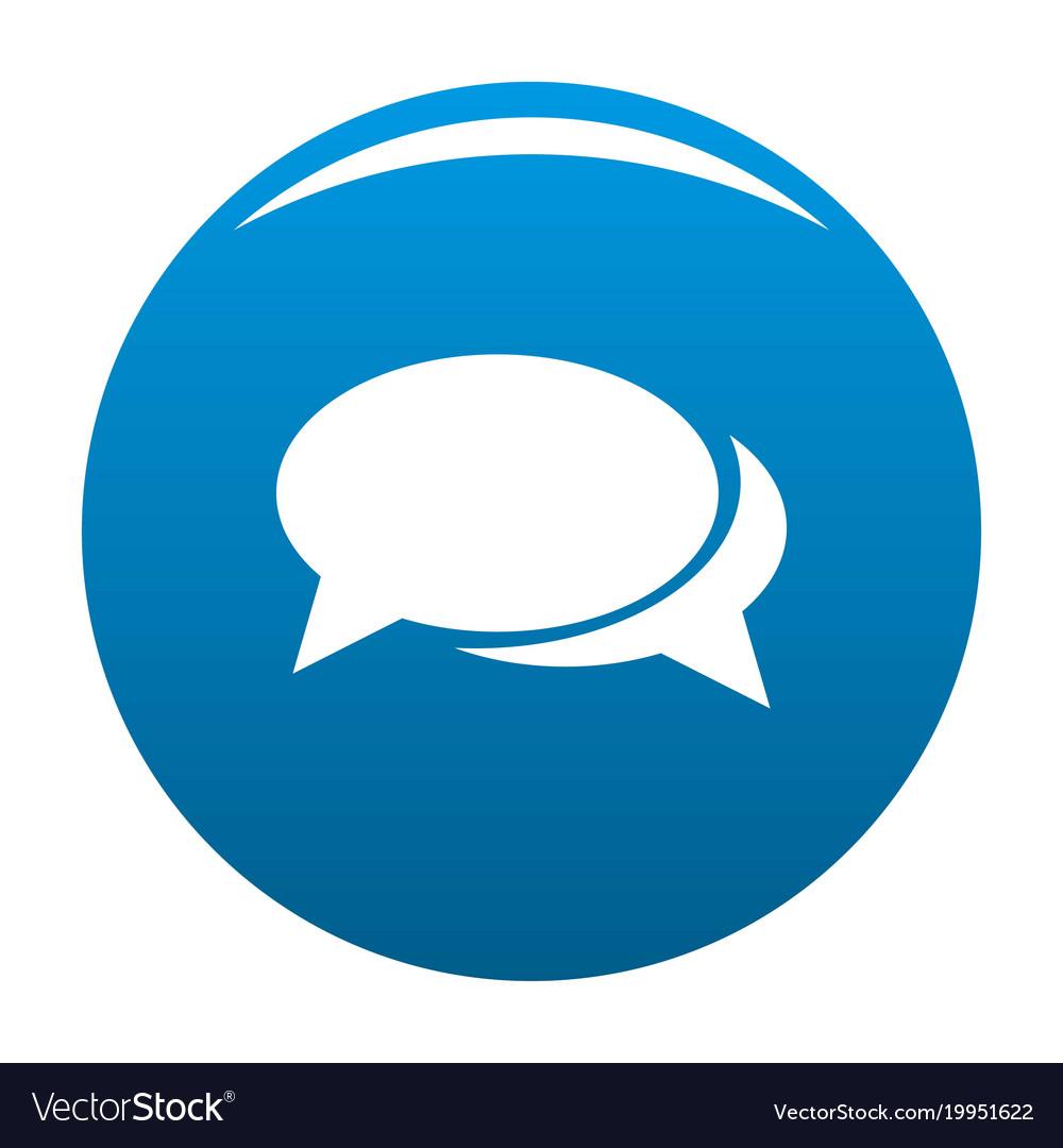 Speech bubbles icon blue