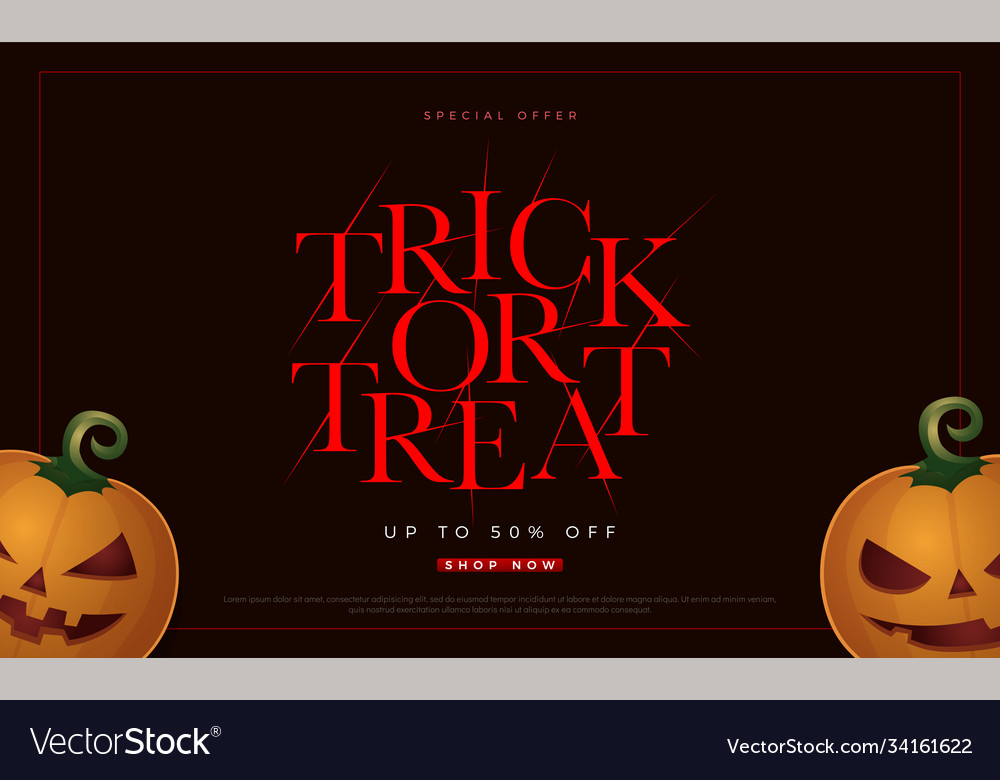 Trick or treat spacial offer halloween sale flyer