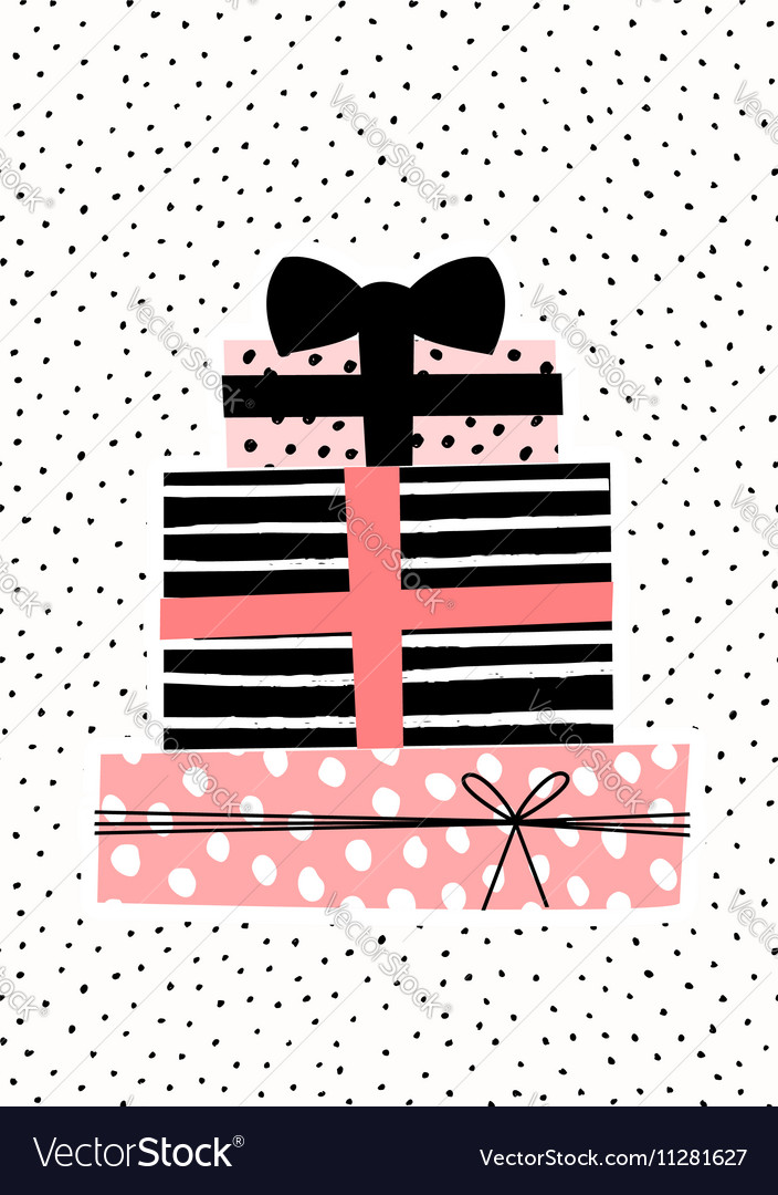 Gift Boxes Greeting Card Design