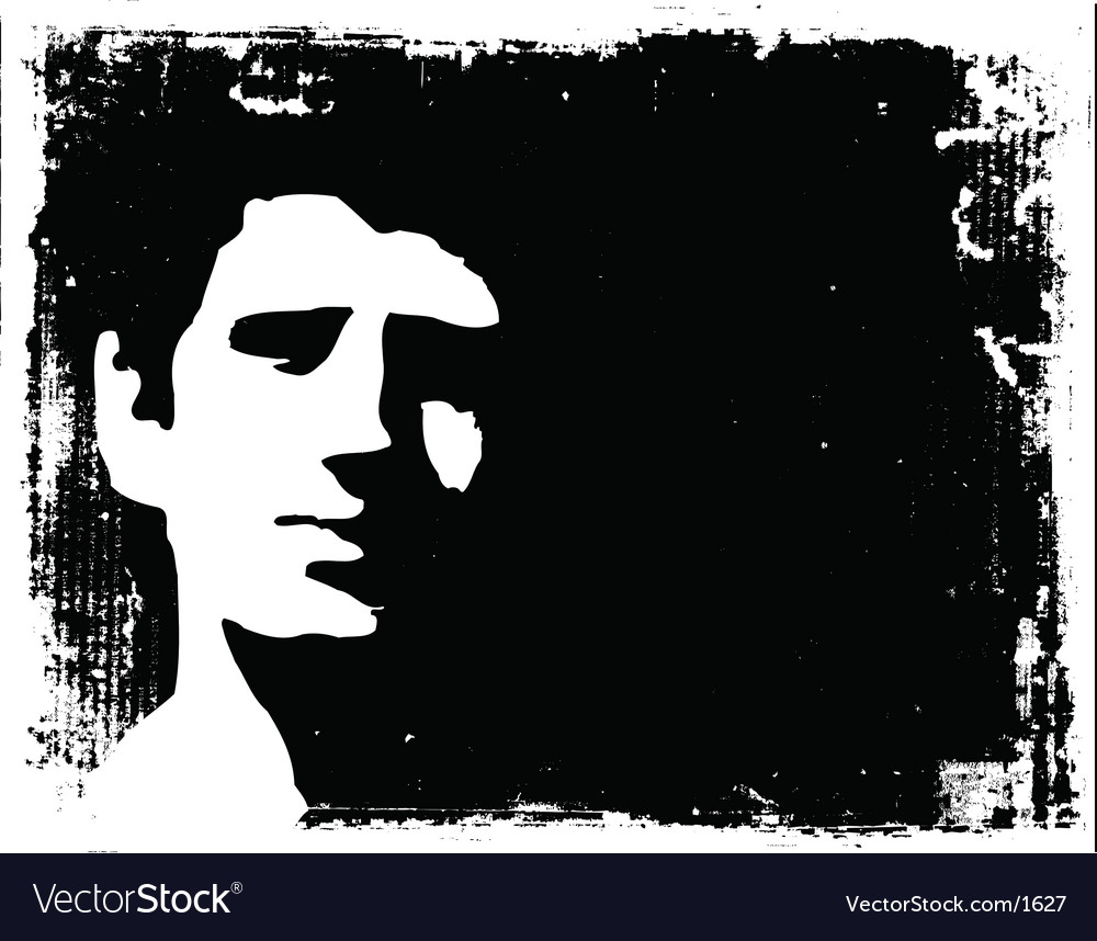 Grunge man background vector image