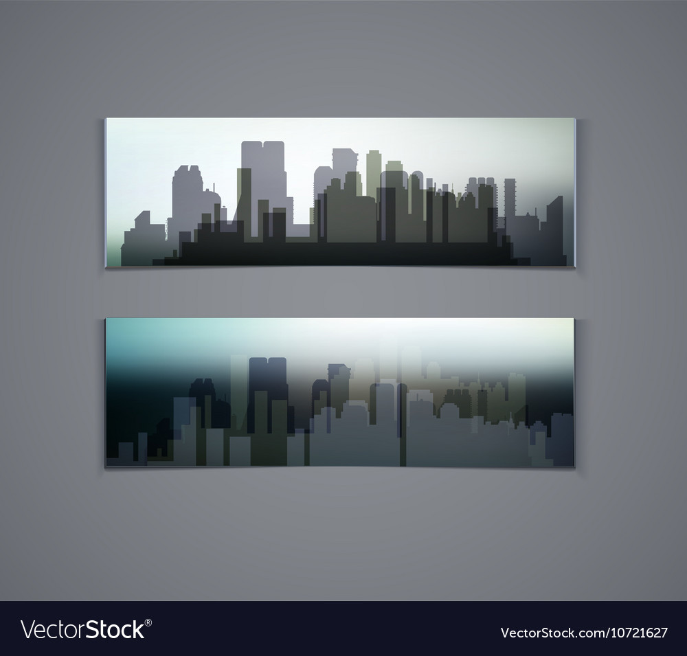 Horizontal banners of city