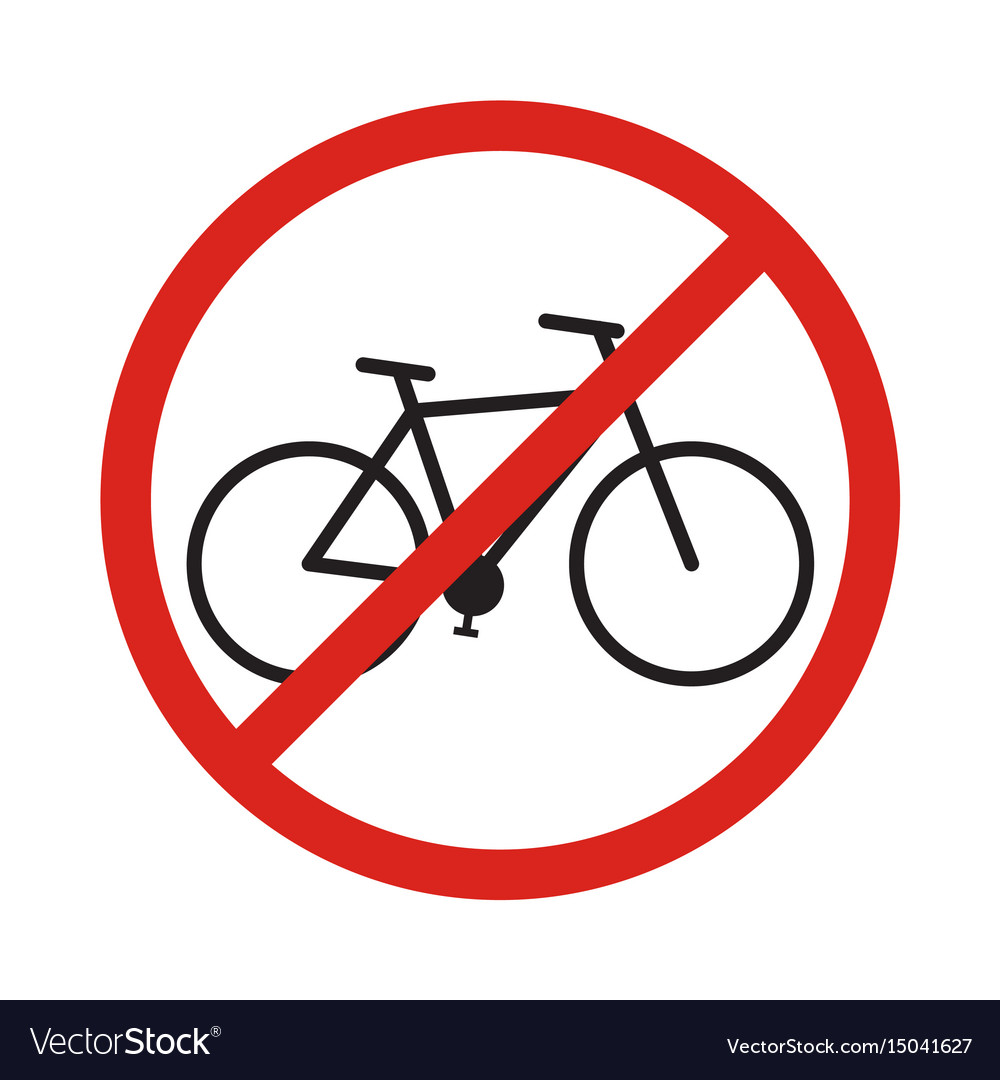 No bike allowed sign in white background