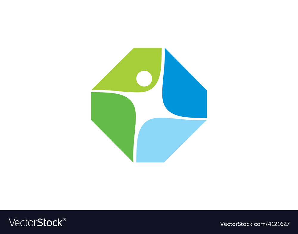 People fitness shape abstract logo