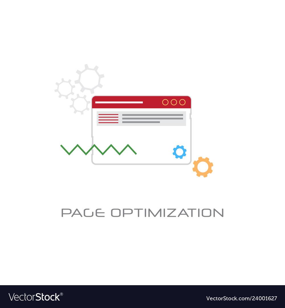 Web page optimization content management concept