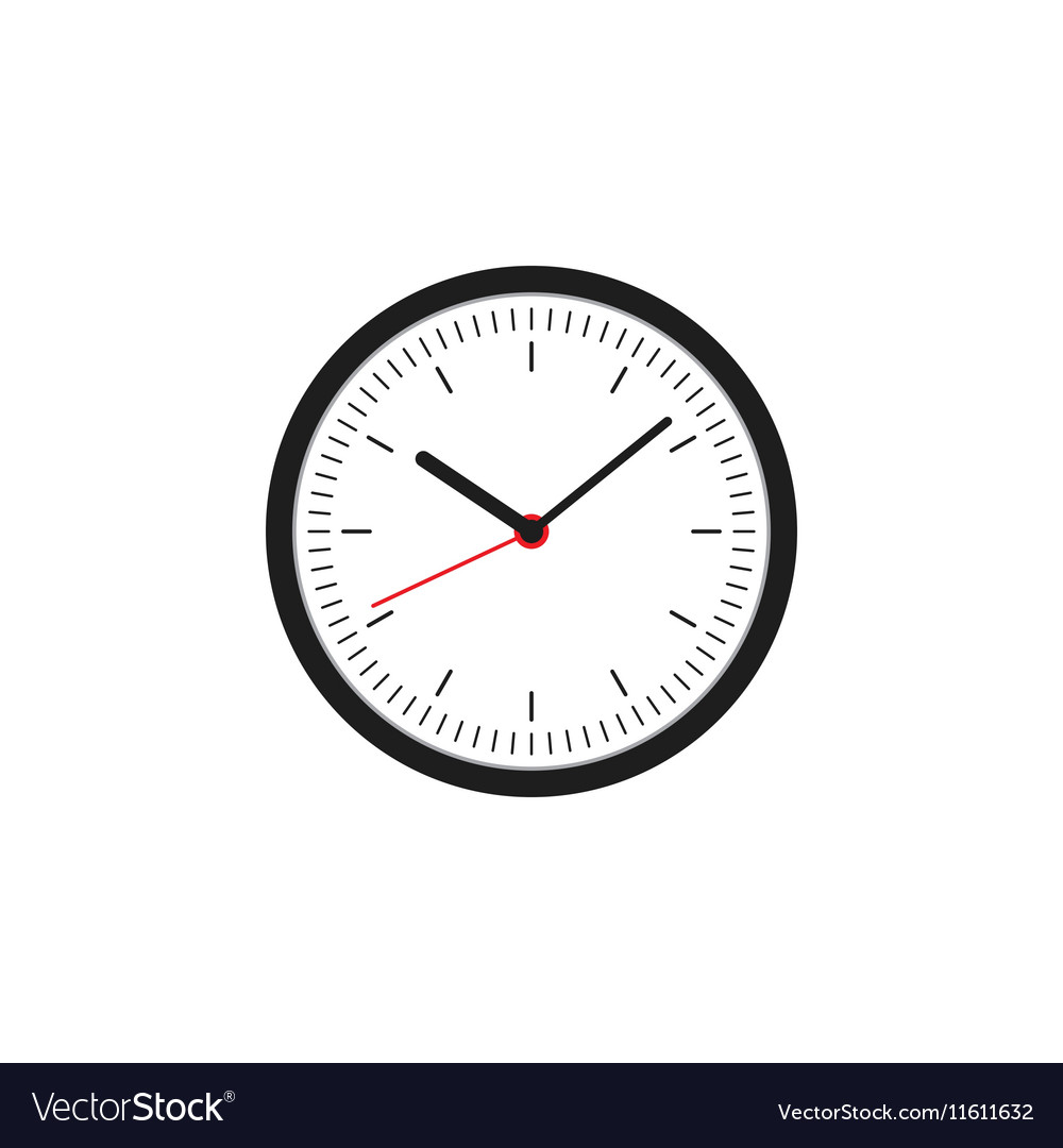 Clock icon flat design