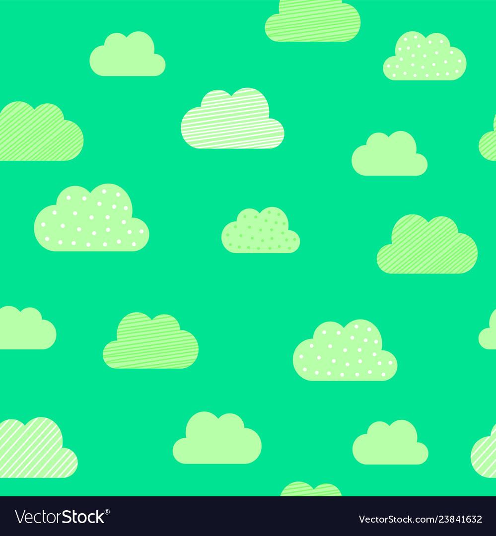 Clouds cartoon pattern background kid birthday