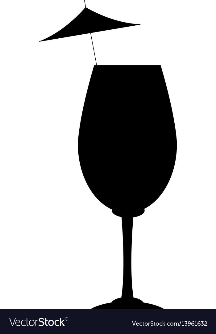 Cocktail with umbrella icon image vector image