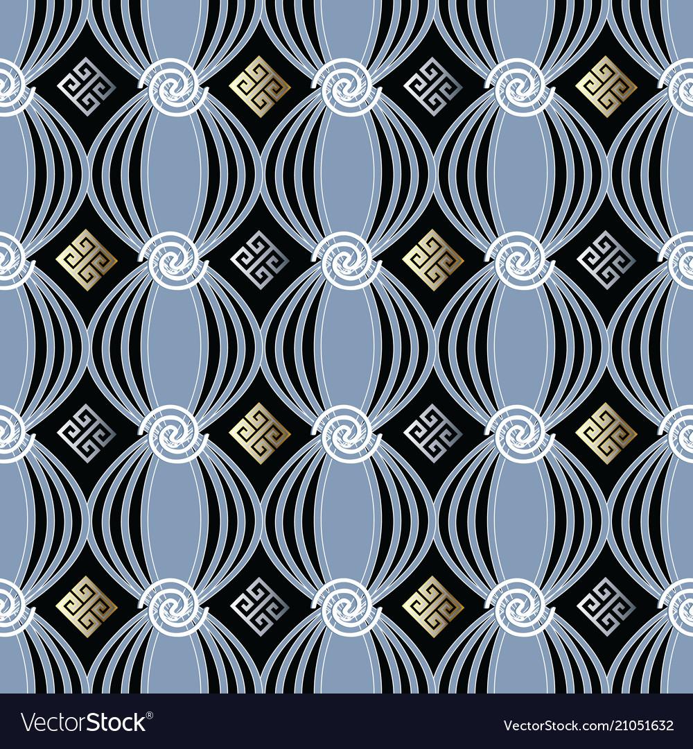 Modern greek seamless pattern
