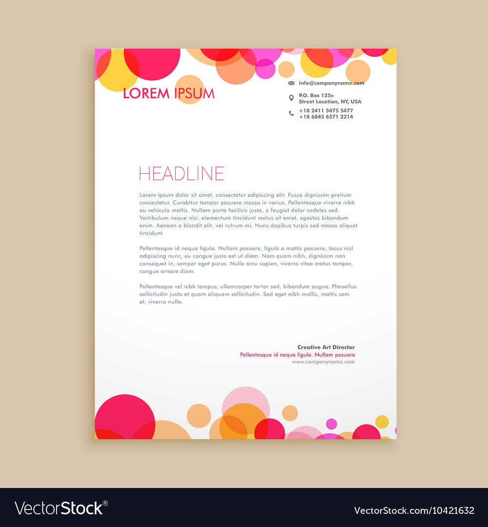 business letter head
