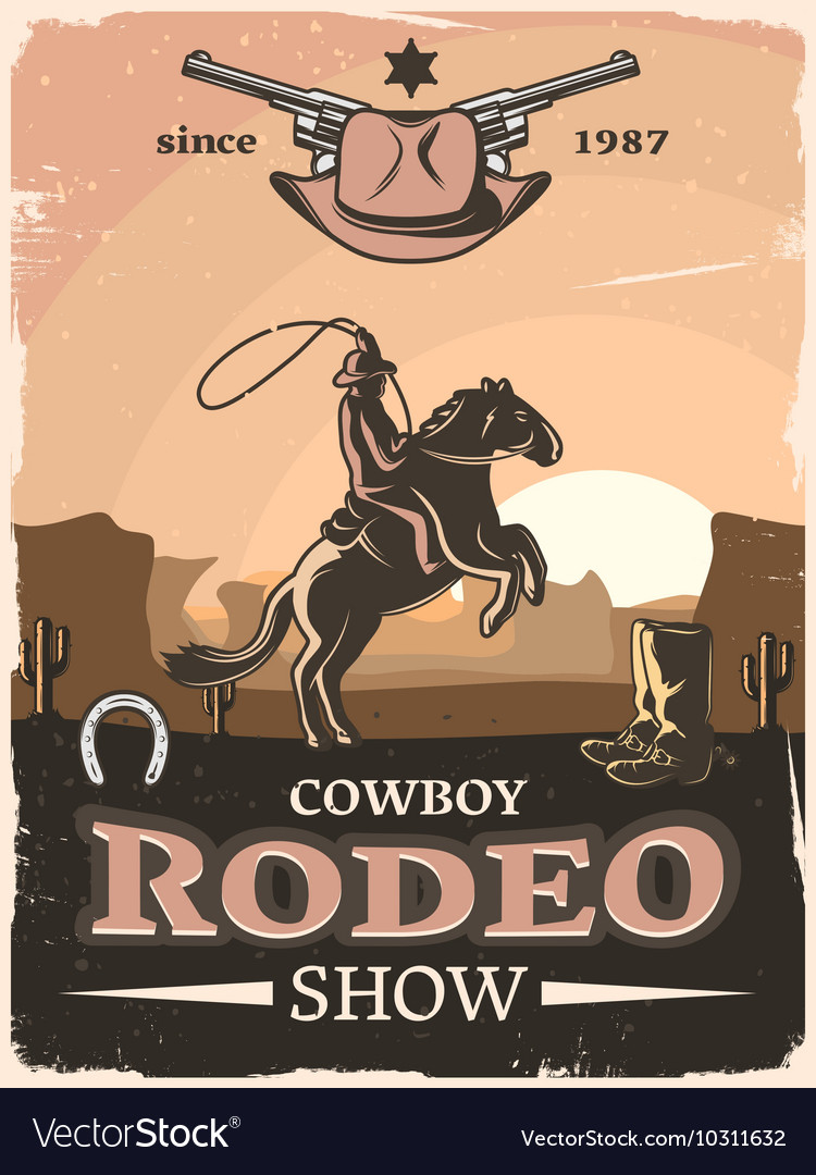 Wild West Poster vector image