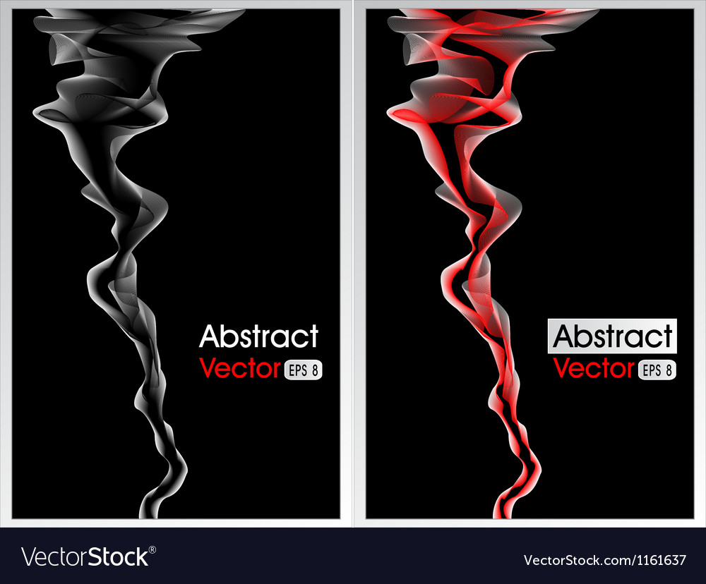 Abstract background with smoke red and white vector image