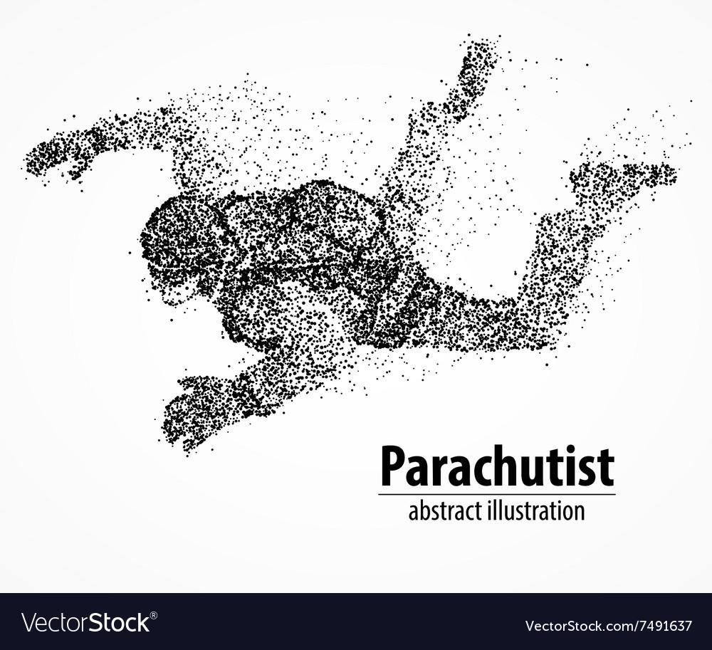 Abstraction parachutist fly