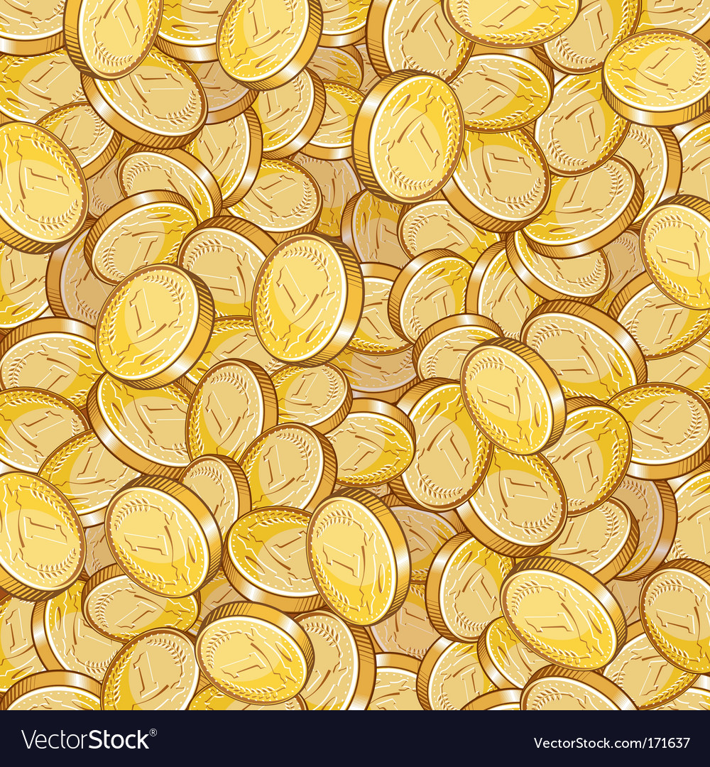 Coin pattern vector image