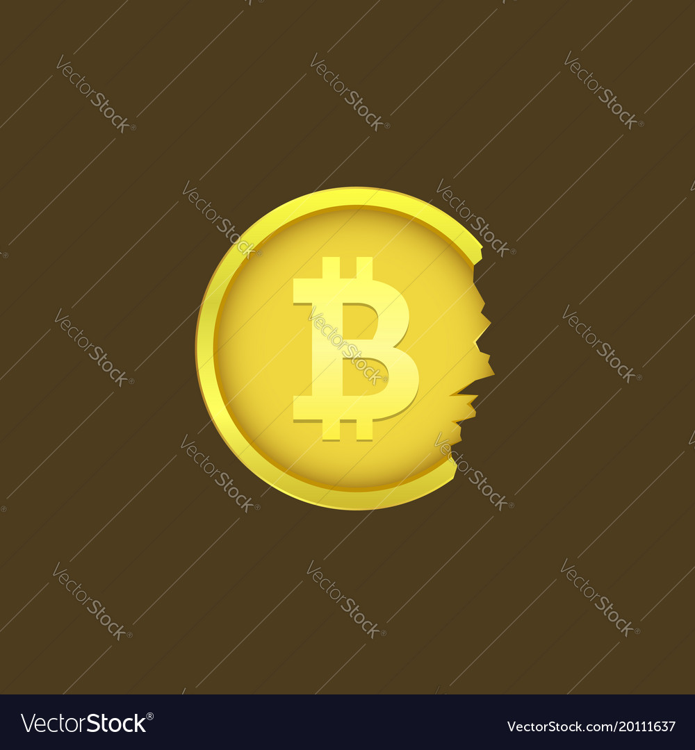 Cracked bitcoin coin