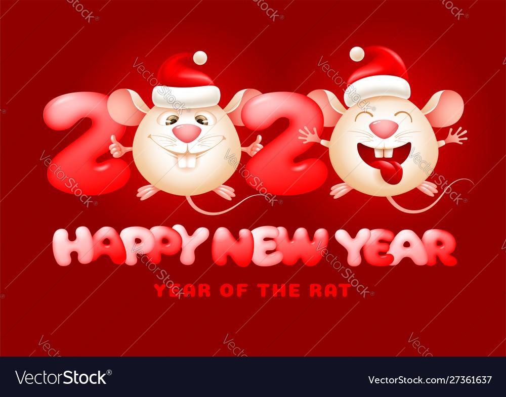 Happy chinese new year year rat