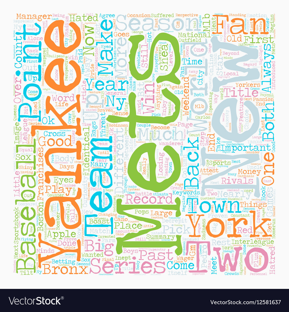 Mets Yankees Column text background wordcloud