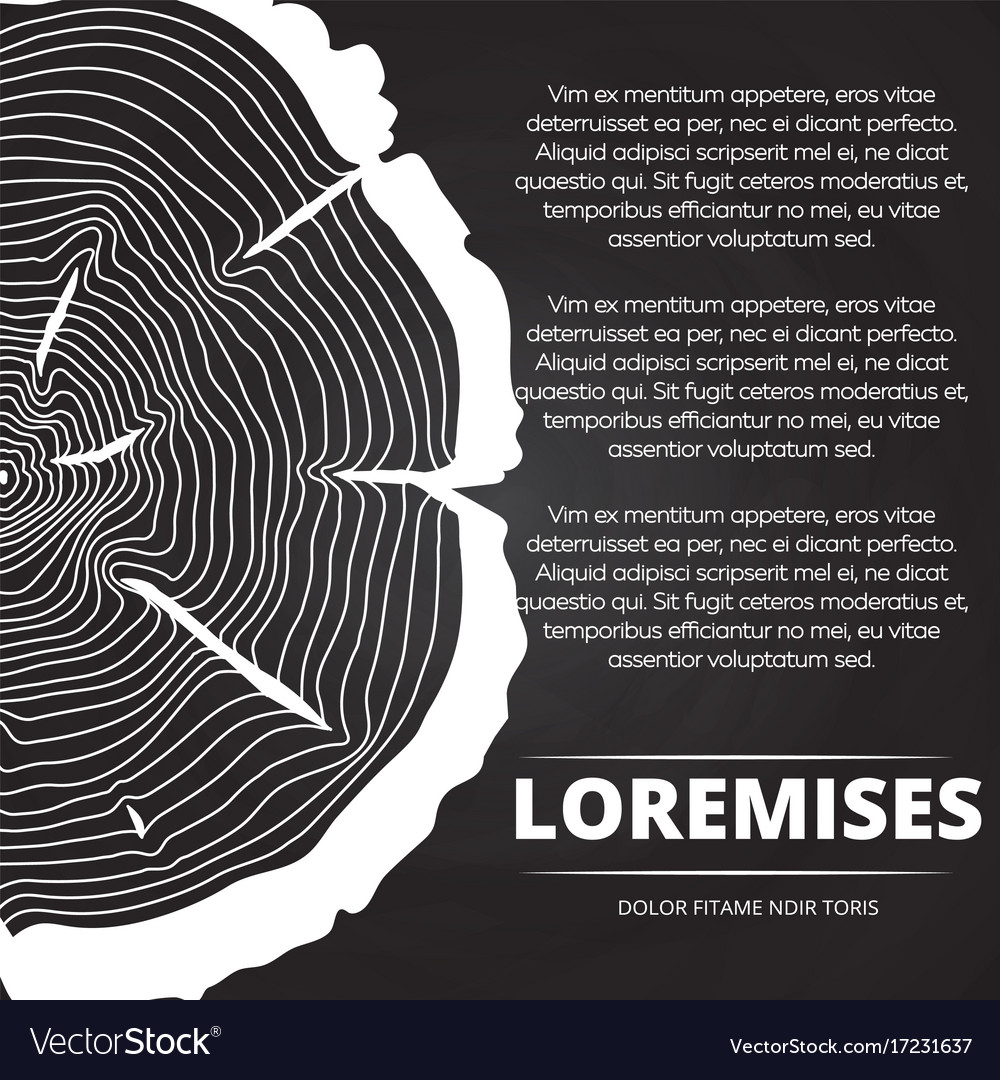Poster With Tree Rings Design Royalty Free Vector Image