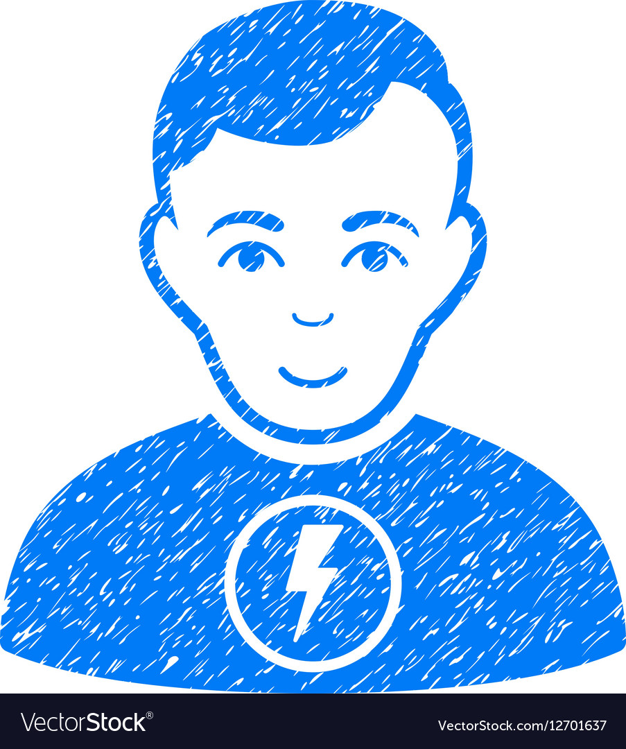 Power Man Grainy Texture Icon vector image