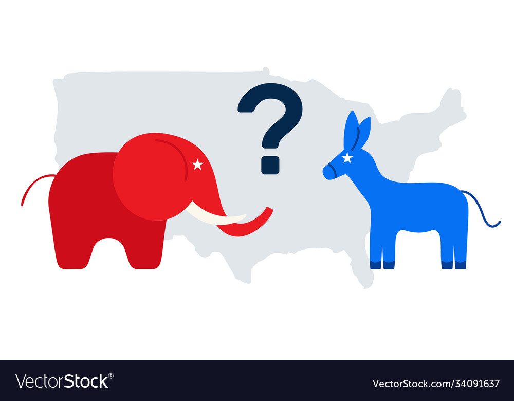 Presidential election in usa 2020 design template