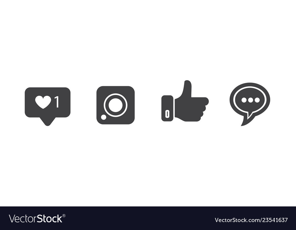 Social Media Icons On White Background For Graphic