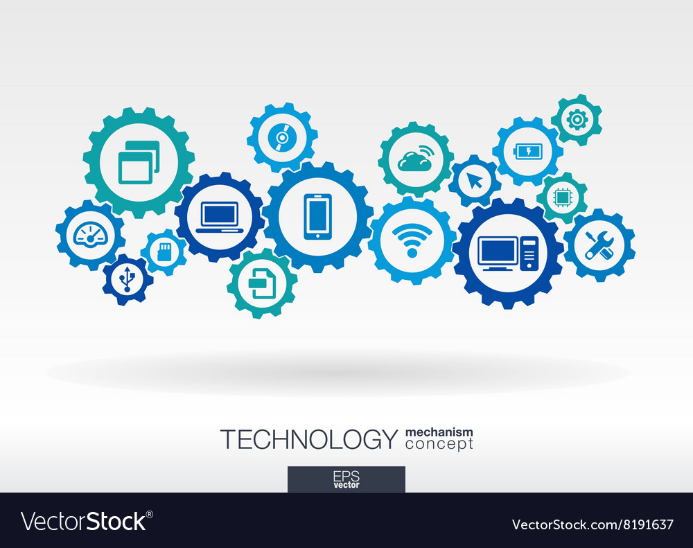 Technology mechanism concept Abstract background