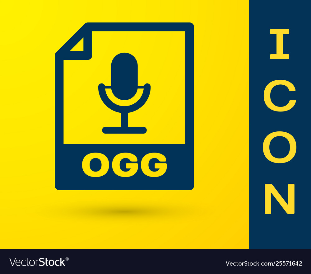 Blue ogg file document icon download ogg button