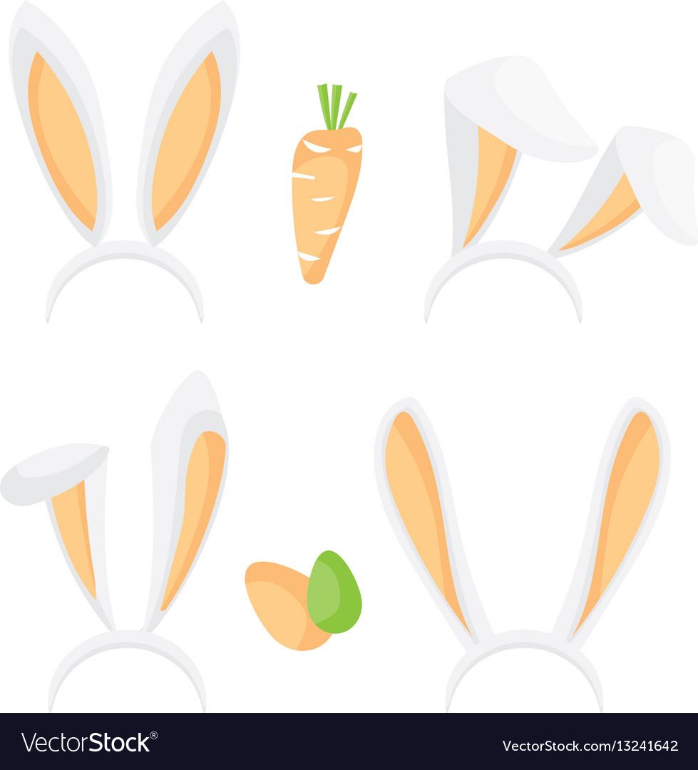 Bunny ears set vector image