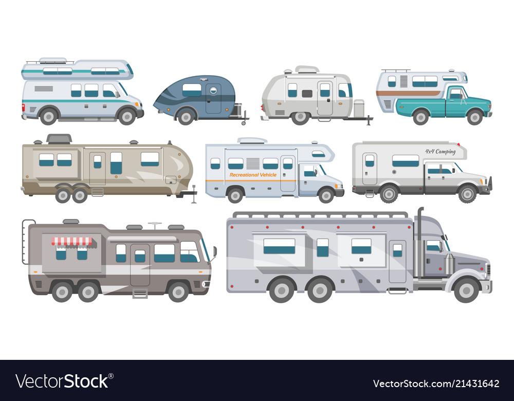 Caravan rv camping trailer and caravanning