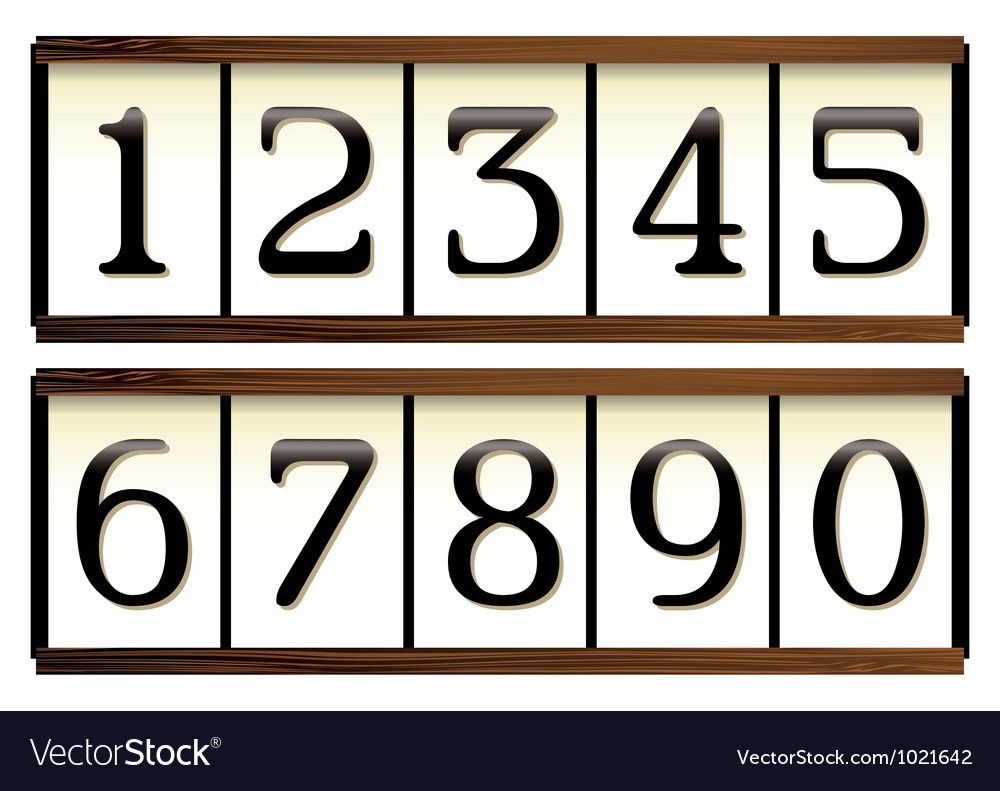 Door numbers vector image  sc 1 st  VectorStock & Door numbers Royalty Free Vector Image - VectorStock