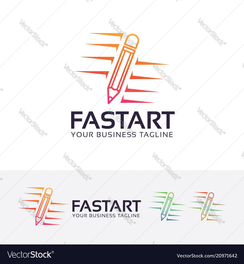 Fast art logo design