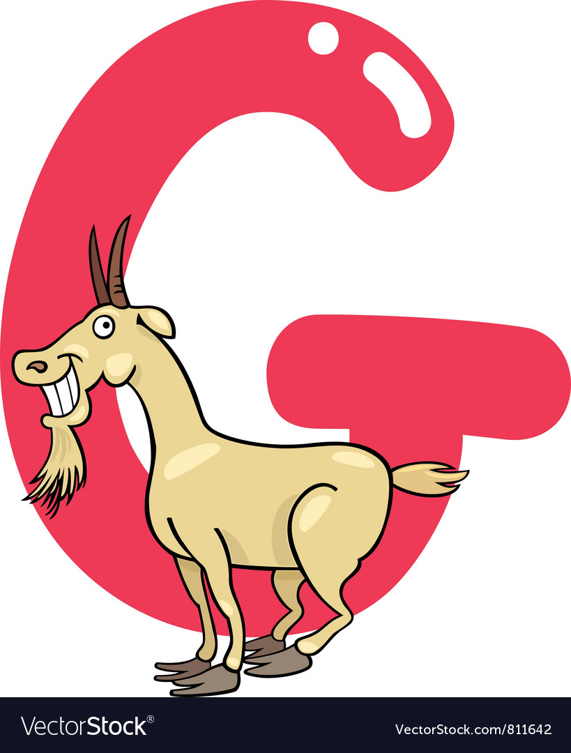 G for goat vector image