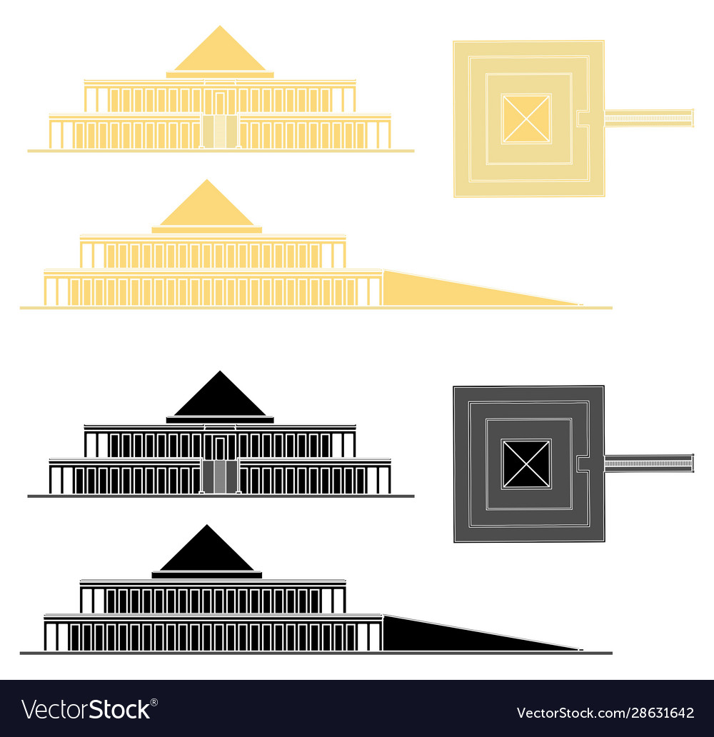 King mentuhotep ii temple without outline