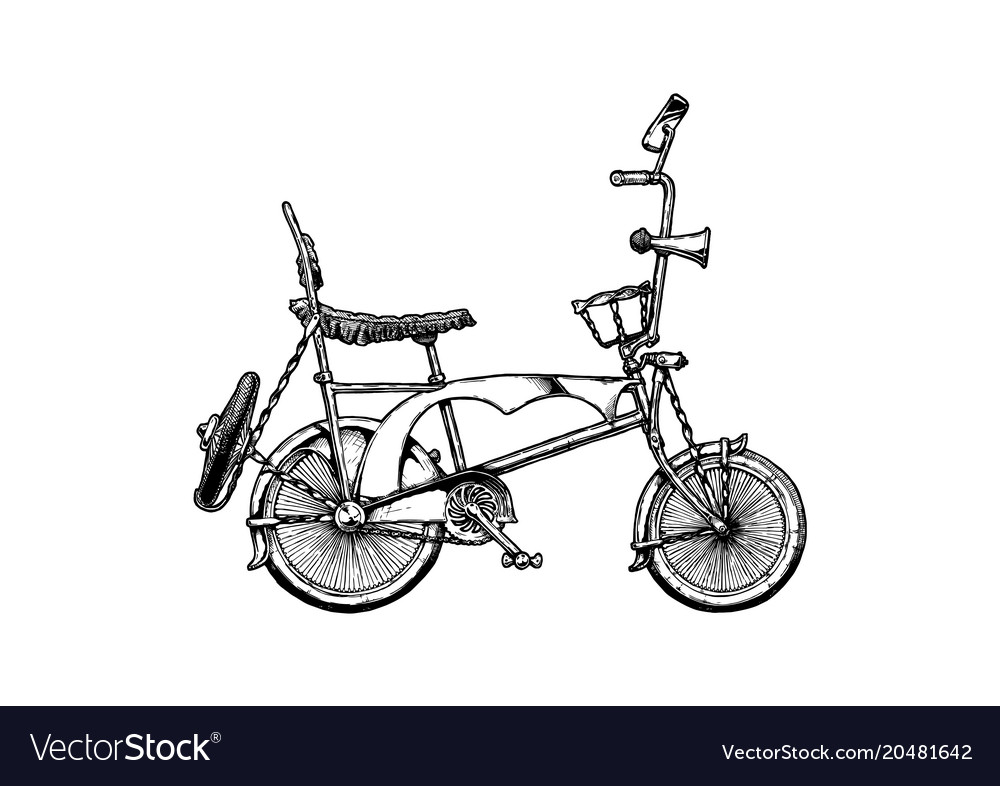 Lowrider bicycle Royalty Free Vector Image - VectorStock