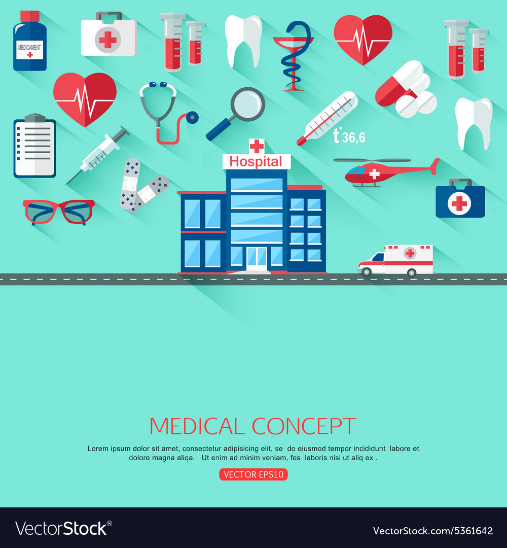 Medical research and healthcare system concept