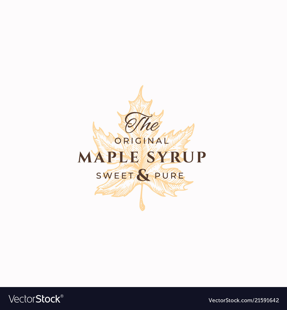 Original maple syrup abstract sign symbol